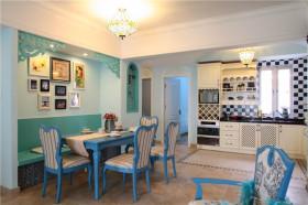 蓝色地中海厨房设计效果图