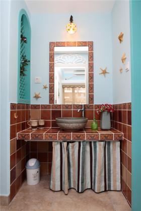 地中海装修设计卫生间洗脸盆效果图片