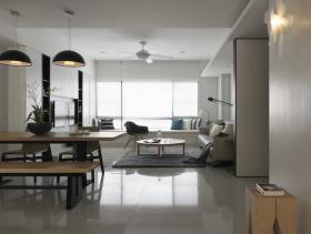 132平现代北欧风格三居装修效果图