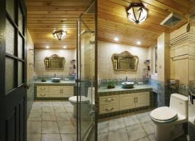 田园装修设计卫生间吊顶案例