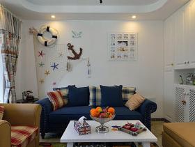 地中海风格二居室装修效果图大全2014图片