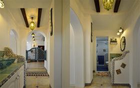 地中海装饰室内过道效果图