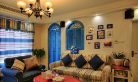 地中海装修别墅客厅装修美图