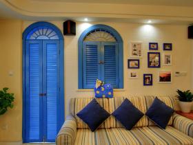 地中海别墅客厅设计装修效果图