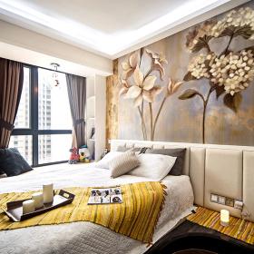 混搭卧室浪漫背景墙设计