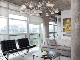 时尚简约客厅吊顶设计效果图欣赏