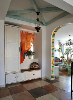 古典地中海风格玄关设计