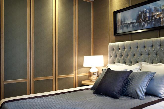 欧式新古典卧室床头衣柜
