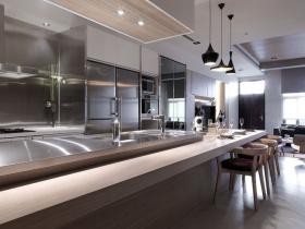 美式别墅简约厨房效果图片
