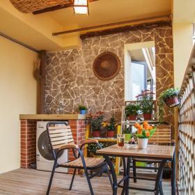 简约现代公寓家居花园布置效果图片