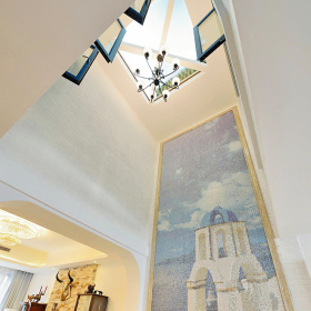 地中海客厅吊顶装修设计