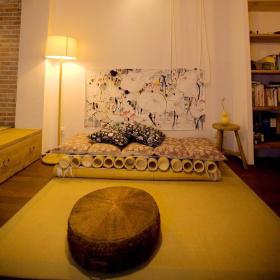 清新古朴中式客厅榻榻米装修案例