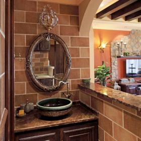 经典美式卫生间浴室柜设计