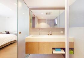 干净整洁宜家卫生间浴室柜设计