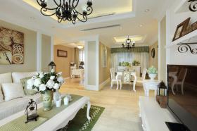 美式简约别墅客厅设计效果图