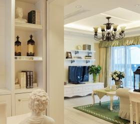 唯美浪漫美式客厅装修设计图