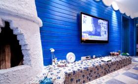 地中海设计客厅电视背景墙