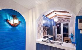 地中海梦幻厨房装修效果图