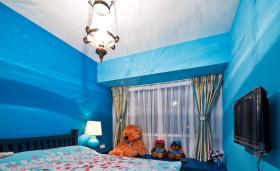 地中海简约风格儿童房飘窗效果图片