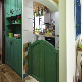 唯美夏日地中海厨房装潢设计图