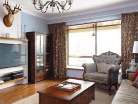 美式田园120平米三室两厅效果图