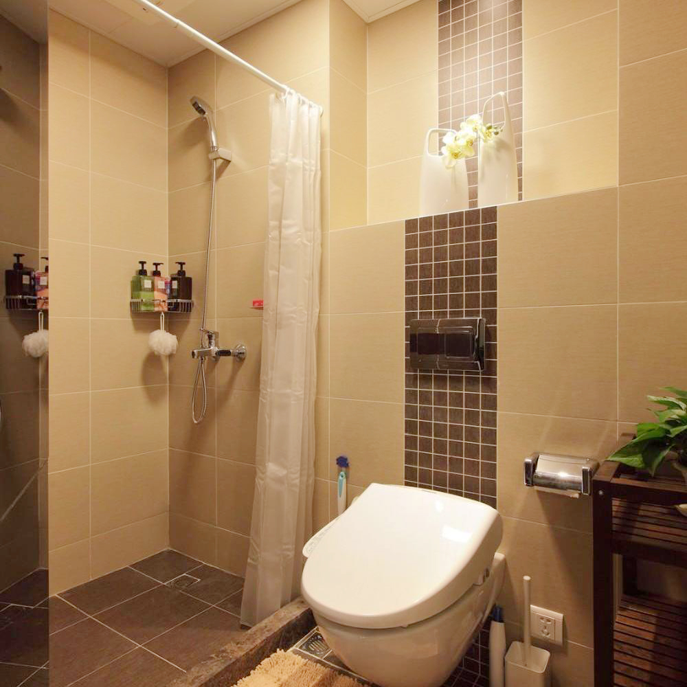 简欧现代卫生间室内设计效果图