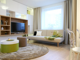 现代简约设计一居室装修效果图