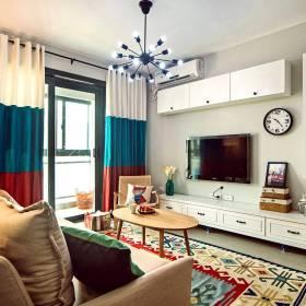 美式混搭客厅电视背景墙