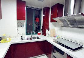 现代装修设计厨房橱柜效果图2015