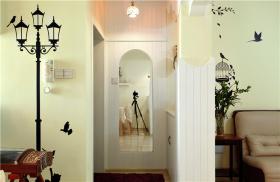 田园风格公寓小清新玄关装修效果图