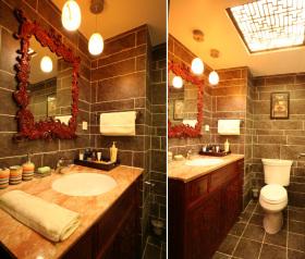 现代中式卫生间设计装潢案例