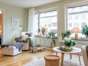 北欧清新简约二居室设计欣赏