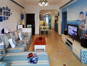 温暖地中海风情两室两厅设计图片