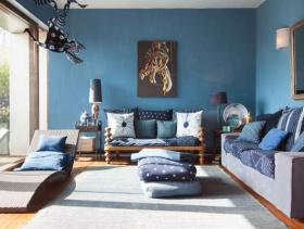混搭风格新古典沙发90平米小户型简约客厅设计