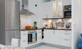 北欧风白色厨房设计
