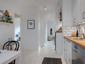 简欧厨房过道装饰设计效果图