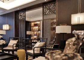清新古朴中式客厅装修效果图