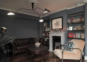 大气稳重新古典客厅设计图