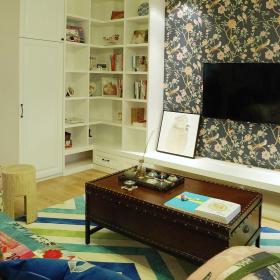 美式设计室内客厅电视背景墙