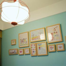 美式儿童房间照片墙设计