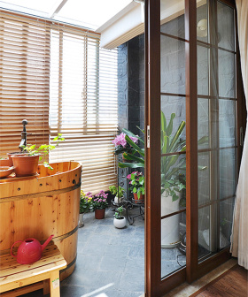 中式装饰阳台大全效果图