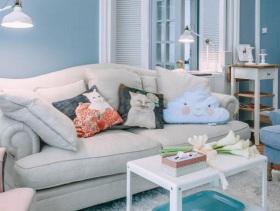北欧风格蓝色清爽二居室设计效果图