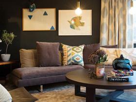北欧瑞典风格低调优雅二居设计效果图