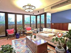 美式风格别墅室内客厅设计效果图