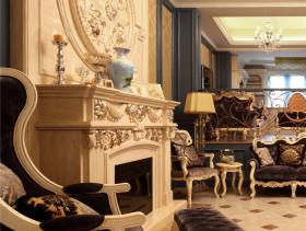 新古典风格客厅三层连体别墅时尚简约客厅效果图
