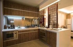 中式原木色厨房装潢设计
