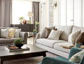 90平米简欧风格二居室设计效果图
