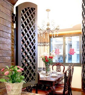 田园家居餐厅窗户设计装修