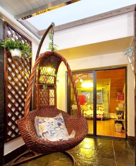 休闲宜家吊椅阳台设计效果图