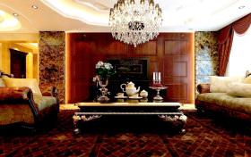 豪华欧式客厅背景墙设计案例